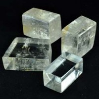 Calcite Yellow Optical Polished 4 pcs